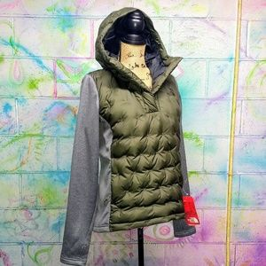 North Face Taupe Mashover Down Pullover